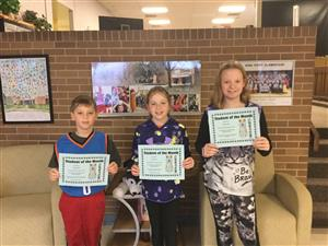 Students of the Month Recognized for Selflessness