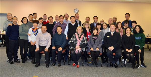 Chinese Delegates with District 135 administrators