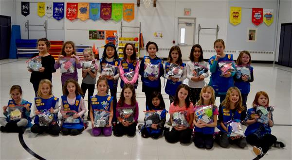 Center School collects items for 'blessing bags'