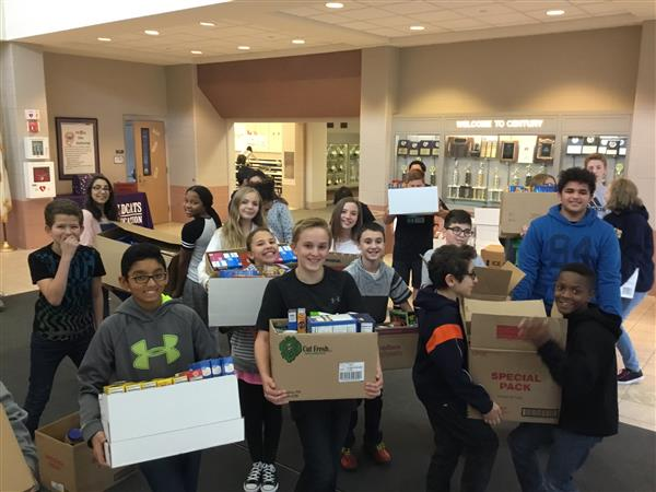 CJH students host food drive for Orland Township Food Pantry