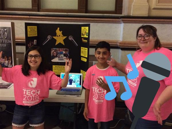Students and their teacher at TECH2018