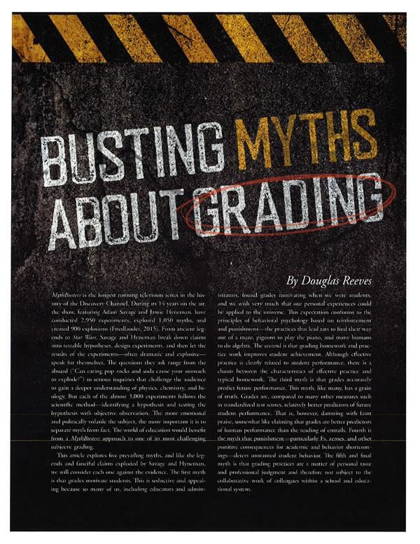 Busting Myths About Grades